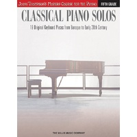 Classical Piano Solos Fifth Grade