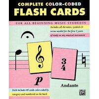Alfred Complete Colour Coded Flash Cards *NEW* 89 Cards