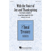 With The Voice Of Joy And Thanksgiving Satb
