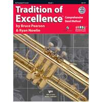 TRADITION OF EXCELLENCE BK 1 TRUMPET BK/DVD