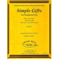 SIMPLE GIFTS FOR WOODWIND TRIO CL/OB/HORN GR 3