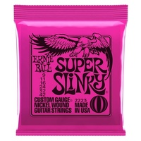 SUPER SLINKY NICKEL WOUND ELECTRIC GUITAR STRINGS 9-42