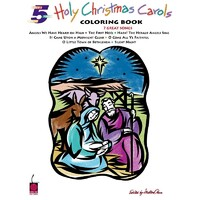 Holy Christmas Carols Coloring Book Five Finger