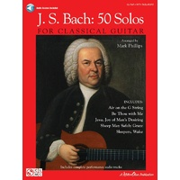 Js Bach - 50 Solos For Classical Guitar Tab Bk/Ola
