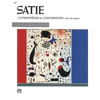 Erik Satie - 3 Gymnopedies & 3 Gnossiennes Piano Solo Book *New* Alfred, Music