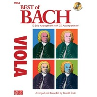 Best Of Bach For Viola Bk/Cd