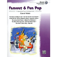 Famous & Fun Pop Book 4 *New* Sheet Music Early Intermediate Songs By Carol Matz