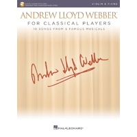 Lloyd Webber For Classical Players Violin/Piano Bk/Ola