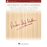 Lloyd Webber For Classical Players Clarinet/Piano Bk/Ola