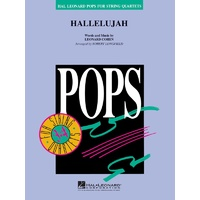 Hallelujah String Quartet 3-4 Score & Parts