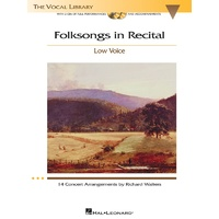 Folksongs In Recital Bk/2Cds Low Voice