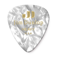 White Pearl Heavy Celluloid Guitar Pick