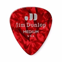 Celluloid Red Pearloid Medium Guitar Pick