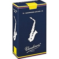 10 x VANDOREN Eb Alto Sax Reeds # 3.5 strength *NEW* Saxophone, Box of 10, Reed