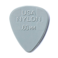 Jim Dunlop Nylon Grey Guitar Pick .6mm