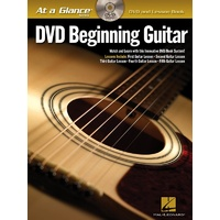 AT A GLANCE BEGINNING GUITAR BK/DVD