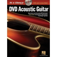 AT A GLANCE ACOUSTIC GUITAR BK/DVD