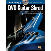 AT A GLANCE GUITAR SHRED BK/DVD