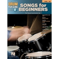 SONGS FOR BEGINNERS DRUM PLAYALONG V32 BK/OLA