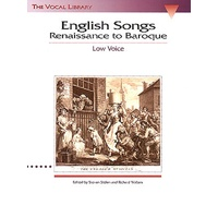 English Songs Renaissance - Baroque Low Vce