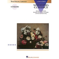 Wedding Classics Low Voice Bk/Cd