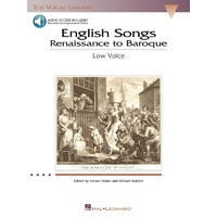 English Songs Renaissance To Baroque Low Bk/Ola