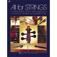 ALL FOR STRINGS Cello Book 2 *NEW* Comprehensive String Method Anderson & Frost