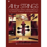 ALL FOR STRINGS Cello Book 3 *NEW* Comprehensive String Method Anderson & Frost