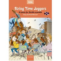 String Time Joggers Cello Book & CD *NEW* Beginner Blackwell Sheet Music Lesson