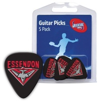 5 x AFL Essendon Bombers Official Guitar Picks *NEW* Pack of 5, 0.8mm, Free Post