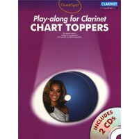 Guest Spot - Chart Toppers Play-Along For Clarinet Book & Cd *New* 10 Pop Songs