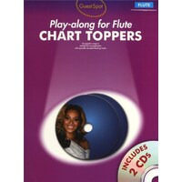 Guest Spot - Chart Toppers Play-Along For Flute Book & CD *NEW* 10 Pop Songs