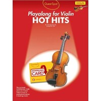 GUEST SPOT HOT HITS Play-Along For Violin Book *NEW* Sheet Music,