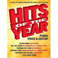 Hits Of The Year 2015 Pvg Book *New* Sheet Music Piano Guitar Vocal