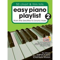 Easy Piano Playlist - 50 Chart & Film Hits Book 2 *New* Music