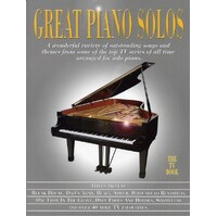 Great Piano Solos - The TV Book *NEW* Music Inc. Muppets, Black Adder, Heartbeat