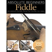 Absolute Beginners Fiddle Book & CD *NEW* Complete Picture Guide, Lessons Violin