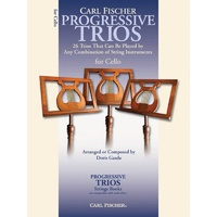 Progressive Trios For Cello Book *New* Sheet Music, Carl Fischer, 26 Pieces