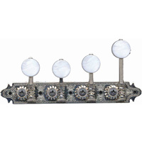 GOTOH 'F' Style Mandolin Machine Heads, Pearloid Buttons, Nickel