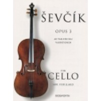 SEVCIK - 40 VARIATIONS OP 3 CELLO ARR FEUILLARD
