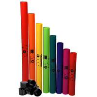 BOOMWHACKERS - C Major Diatonic Scale Set with Octavator Caps