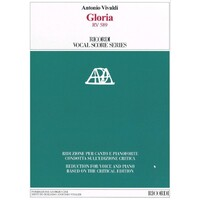 VIVALDI - GLORIA RV 589 VOCAL SCORE CRITICAL EDITION