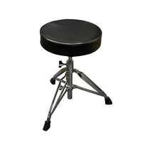 DXP Drum Stool Heavy Duty Chrome, Wide Angle Double Braced, Adjustable