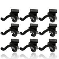 9 x CPK Guitar Wall Hangers, Screw mount lipped metal base, swivel head *NEW*