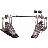 DXP Double Kick Bass Drum Pedal, Heavy Duty, Diecast Frame, Double Spurs