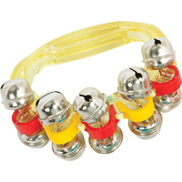 36 X  Hand Sleigh Bell Transparent Colours Kids Percussion for Schools or Choirs