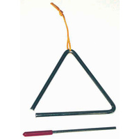 POWERBEAT Deluxe Triangle 6 Inch *NEW* With Beater & Tie, Educational, Fun