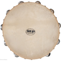 MANO PERCUSSION Tambourine 12 Inch Wood Calf Skin Head Kids Education