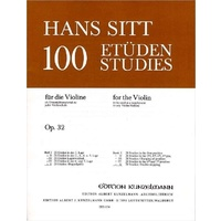 Hans Sitt - 100 Etudes For Violin Book 5 *New* Sheet Music, Double Stopping