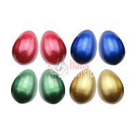 Egg Shaker Metallic Pair